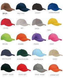 ♣ Katoenen Baseballcaps in een volwassen maat (maat verstelbaar aan achterzijde)