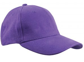 ♣ Heavy Brushed Baseballcaps in de kleur paars