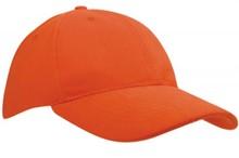 Goedkope oranje Baseballcaps voor volwassenen (met verstelbare sluiting)