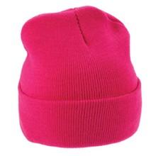 ♣ Gebreide mutsen in de kleur roze (volwassen maat, rekbaar)