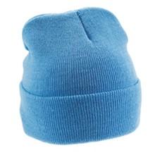 ♣ Goedkope lichtblauwe mutsen kopen? Gebreide winter mutsen in de kleur lichtblauw (volwassen maat)