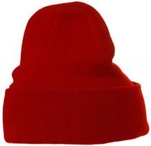 ♣ Goedkope rode gebreide winter mutsen (rekbaar, volwassen maat, 100% acryl)