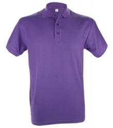 ♣ Heren Poloshirts in de kleur paars (polo pique, 100% katoen)