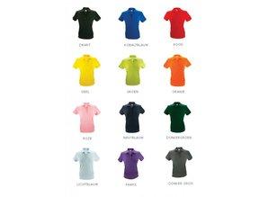 Goedkope Poloshirts kopen? Dames poloshirts (polo pique) in de kleur oranje (S t/m XXL)