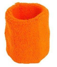 ♣ Oranje elastische badstof polsbandjes (geschikt voor borduring van een logo en/of tekst)