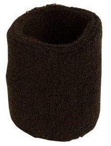 ♣ Zwarte elastische badstof polsbandjes (geschikt voor borduring van een logo en/of tekst)