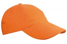 Goedkope oranje Baseballcaps voor kinderen (met verstelbare sluiting voor de maat)