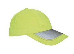 ♣ Veiligheids Baseballcaps in de kleur fluor geel!