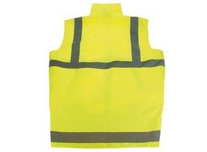 ♣ Veiligheidsjacks met rits met reflectorstrepen in de kleur fluor geel!
