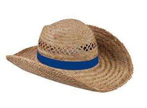 ♣ Echte goedkope Strohoeden met een lichtblauw gekleurde band kopen?