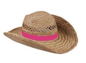 ♣ Echte goedkope Strohoeden met een roze gekleurde band kopen?