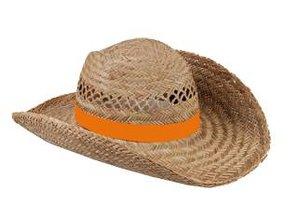 Goedkope Strohoeden met een oranje gekleurde band kopen?