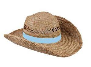 ♣ Echte goedkope Strohoeden met een blauw gekleurde band kopen?