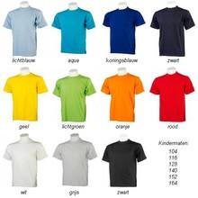 ♣ 100% katoenen T-shirts in een dikkere kwaliteit van 165 gr/m2 (voorzien van een korte mouw en ronde hals)