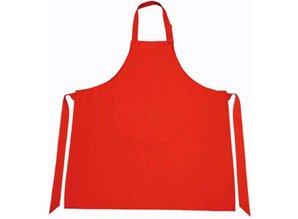 ♣ Goedkope rode Keukenschorten kopen? Rode professionele keukenschorten (met verstelbare hals en opbergvakje)