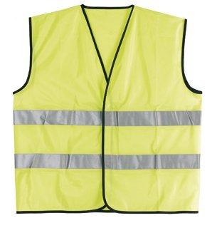 Goedkope gele reflecterende veiligheidshesjes (voor kinderen of volwassenen)