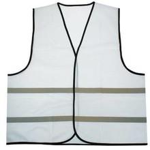 ♣ Reflecterende veiligheidshesjes in de kleur wit (100% knitted polyester, 120 gr/m2)