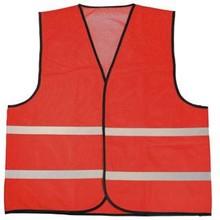 ♣ Rode reflecterende promo veiligheidshesjes (100% knitted polyester, 120 gr/m2)