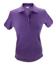 Goedkope Poloshirts kopen? Goedkope katoenen paarse dames Poloshirts (maten S t/m XXL)