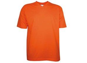 ♣ T-shirts met V-hals met korte mouw (100% katoen)