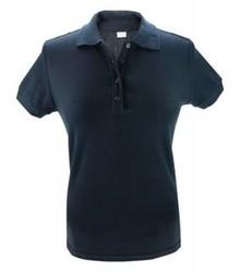 ♣ Dames poloshirts in de kleur donkerblauw (polo pique, 100% katoen)