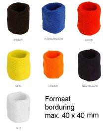 ♣ Goedkope badstof polsbandjes (geschikt voor borduring van een logo en/of tekst)