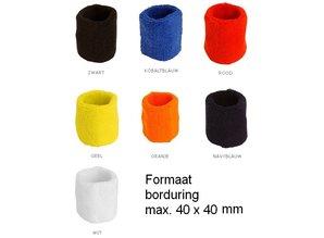 ♣ Goedkope elastische badstof polsbandjes kopen? Bij ons kunt u goedkope elastische badstof polsbandjes kopen en direct online bestellen. De polsbandjes kunt u eventueel door ons laten voorzien van een borduring van een logo/tekst!