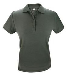 ♣ Dames Poloshirts in antraciet (donkergrijs) polo pique 100% katoen