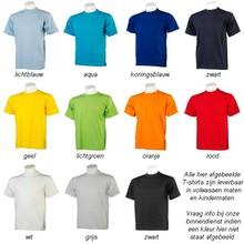♣ 100% katoenen kwaliteit T-shirts met ronde hals en korte mouw