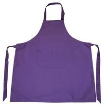 ♣ Professionele keukenschorten in de kleur paars (met verstelbare hals en voorvakje)