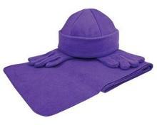♣ Goedkope Fleecesets (1 sjaal, 1 muts, 1 paar handschoenen)