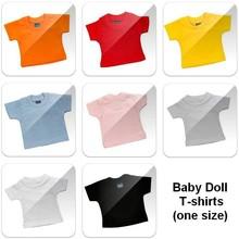 ♣ Mini baby-doll T-shirts met korte mouw en ronde hals (onbedrukt)