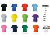 T-shirts met korte mouw en ronde hals (100% katoen)