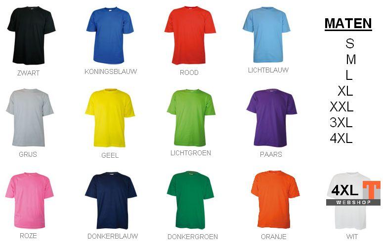 4c5090611187b8 T-shirts! Goedkope uniseks T-shirts in diverse maten kopen  Bij ons kunt u  goedkope uniseks T-shirts in diverse maten + kleuren kopen en direct online  ...