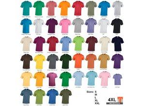 ♣ Fair Trade T-shirts! Kwaliteit T-shirts in 44 kleuren leverbaar!