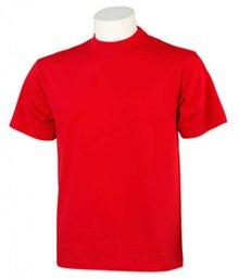 ♣ Mooie kwaliteits T-shirts in de kleur rood (100% katoen, met korte mouw en ronde hals)