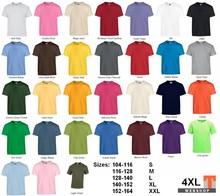 ♣ Fair Trade T-shirts in 31 kleuren (leverbaar in kindermaten en volwassen maten)
