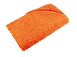 Goedkope oranje strandlakens (afmeting 100 x 180 cm) kopen? Bij ons kunt u goedkope oranje badstof strandlakens kopen!