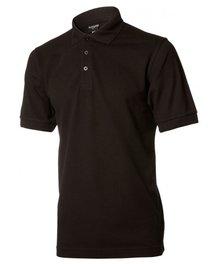♣ Unisex Poloshirts in de kleur zwart (kwaliteit 65% Katoen/35% Polyester)