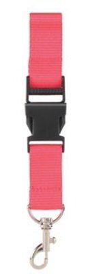 ♣ Lanyards in de kleur roze (2,5 cm breed)