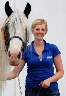 ♣ 100% katoenen dames Poloshirts (polo pique) in kobaltblauw (koningsblauw)