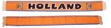 Funny Holland collectie 2018 │ Goedkope oranje fan sjaaltjes met de tekst HOLLAND (afmeting 15 x 155 cm)