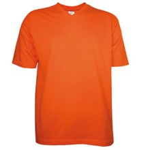 ♣ Goedkope T-shirts met V-hals (100% katoen, korte mouw)