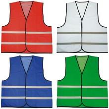 ♣ Veiligheidshesjes met reflecterende strepen (100% knitted polyester, 120 gr/m2)
