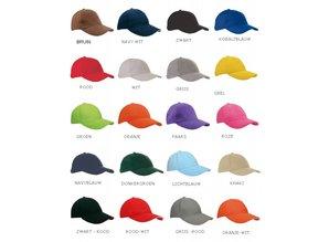♣ Bij ons kunt u goedkope Baseballcaps met borduring bestellen (incl. logo, embleem en/of tekst) max. afmeting borduring 5 x 10 cm.