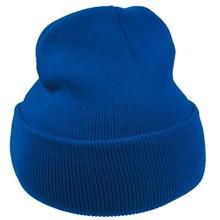 ♣ Goedkope kobaltblauwe gebreide winter mutsen (uni volwassen maat, rekbaar)