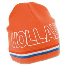 Funny Holland collectie 2017 │ Gebreide oranje WK 2014 mutsen (Beanie) met tekst HOLLAND