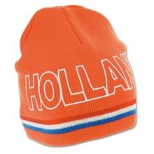 Funny Holland collectie 2018 │ Gebreide oranje WK 2014 mutsen (Beanie) met tekst HOLLAND