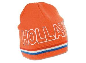 Funny Holland collectie 2017 │ Gebreide WK 2014 oranje mutsen (Beanie) met tekst HOLLAND kopen?