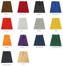 Professionele halflange sloven (afmeting 96 (breedte) x 71 (hoogte), materiaal 65% Polyester / 35% Cotton, kleurecht)